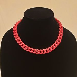 Neon Pink Chunky Heavy Chain Necklace